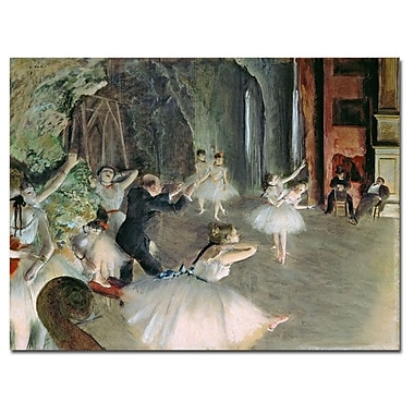 Trademark Fine Art Edgar Degas 'The Rehearsal of the Ballet on Stage' Canvas