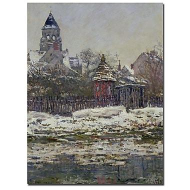 Trademark Fine Art Claude Monet 'The Church at Vetheuil 1879' Canvas Art