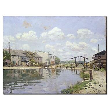 Trademark Fine Art Alfred Sisley 'The Canal Saint-Martin 1872' Canvas Art
