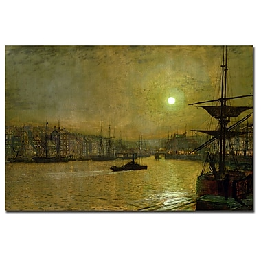 Trademark Fine Art John Atkinson Grimshaw 'Whitby' Canvas Art