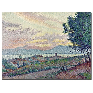 Trademark Fine Art Paul Signac, 'St.Tropez, Pinewood, 1896' Canvas Art 18x24 Inches
