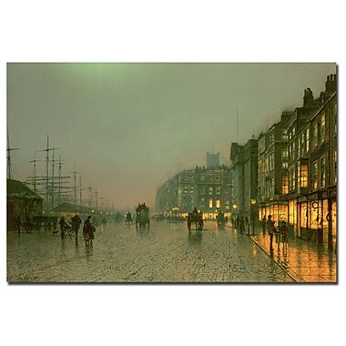 Trademark Fine Art John Grimshaw 'Liverpool Docks 1870' Canvas Art