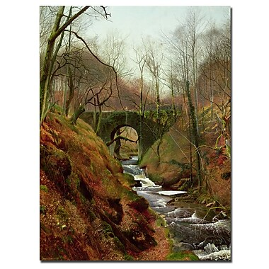 Trademark Fine Art John Grimshaw 'March Morning' Canvas Art Ready to Hang 14x19 Inches