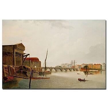 Trademark Fine Art Daniel Turner 'Westminster Bridge' Canvas Art