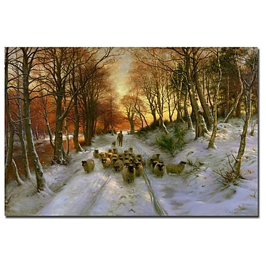 Trademark Fine Art Joseph Faruqharson 'Glowing Tints of Evening Hours' Canvas