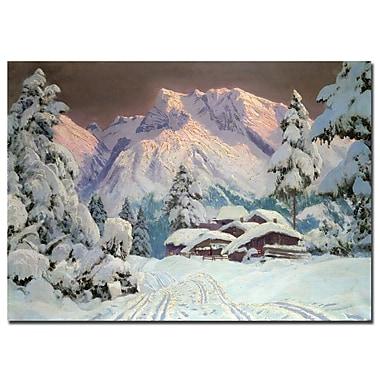 Trademark Fine Art Alwin Arnegger 'Hocheisgruppe, Austria' Canvas Art 14x19 Inches