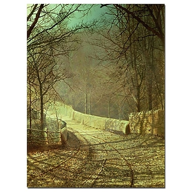 Trademark Fine Art Johannes Koekkoek 'Villge in Winter' Canvas Art