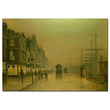 Trademark Fine Art John Grimshaw 'Liverpool Docks' Canvas Art 22x32 Inches