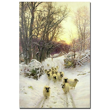 Trademark Fine Art Joseph Farquharson 'The Sun had Closed a Winter's Day' Art 16x24 Inches