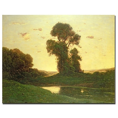Trademark Fine Art Henri-Joseph Harpignies 'View in the Campagna' Canvas Art