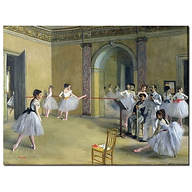 Trademark Fine Art Edgar Degas 'The Dance Foyer 1872' Canvas Art Ready to Hang 14x19 Inches