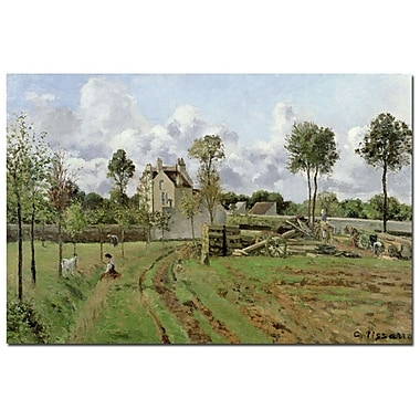 Trademark Fine Art Camille Pissarro 'Louveciennes, 1872' Canvas Art
