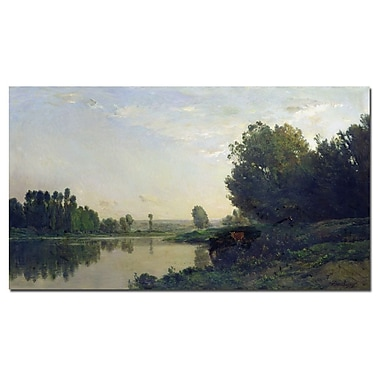 Trademark Fine Art Charles Daubigny 'The Banks of the Oise, 1866' Canvas Art