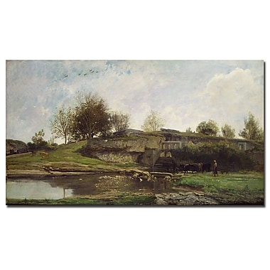 Trademark Fine Art Charles Daubigny 'The Lock at Optevoz, 1855' Canvas Art