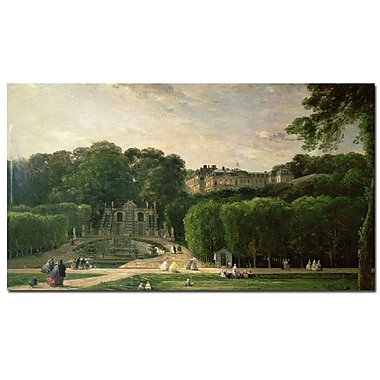Trademark Fine Art Charles Daubigny 'The Park at St.Cloud, 1865' Canvas Art