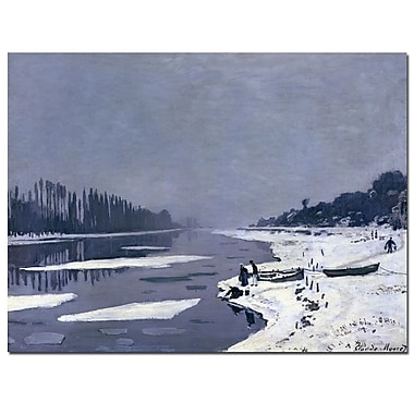 Trademark Fine Art Claude Monet 'Ice on Seine at Bougival, 1867-8' Canvas Art