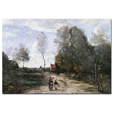 Trademark Fine Art Jean Corot 'The Road' Canvas Art