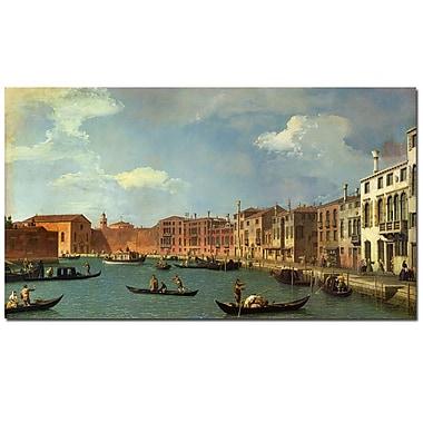 Trademark Fine Art Canaletto 'Canal of Santa Ciara, Venice' Canvas Art