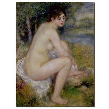 Trademark Fine Art Pierre Renoir 'Nude in a Landscape, 1883' Canvas Art 26x32 Inches