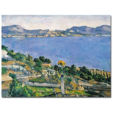 Trademark Fine Art Paul Cezanne 'The Little Bridge 1879' Canvas Art 35x47 Inches