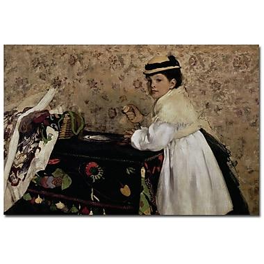 Trademark Fine Art Edgar Degas 'Portrait of Miss Valpincon, 1869' Canvas Art