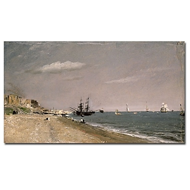 Trademark Fine Art John Constable 'Brighton Beach with Colliers, 1824' Canvas A