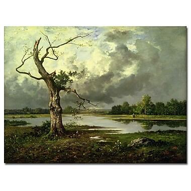 Trademark Fine Art Leon Richet 'French River Landscape' Canvas Art