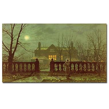 Trademark Fine Art John Grimshaw 'Lady in the Garden by moonlight, 1882' Canvas