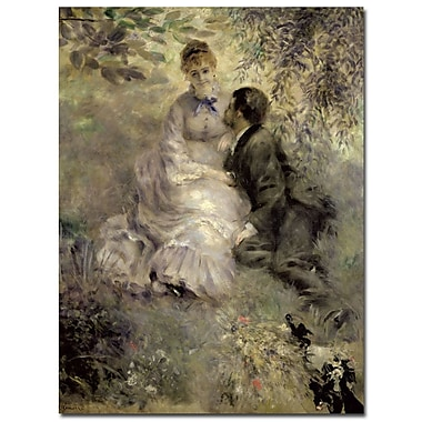 Trademark Fine Art Pierre Auguste Renoir 'The Lovers c.1875' Canvas Art 18x24 Inches