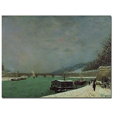 Trademark Fine Art Paul Gauguin 'The Seine at Pont d'lena, Winter' Canvas Art 18x24 Inches