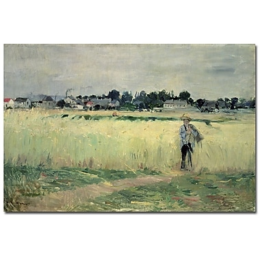 Trademark Fine Art Berthe Morisot 'In the Wheatfields at Gennefilliers,30x47 Inches