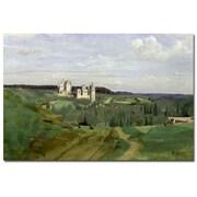 Trademark Fine Art Jean Baptiste Corot 'View of Chateau de Pierrefonds, 1840'