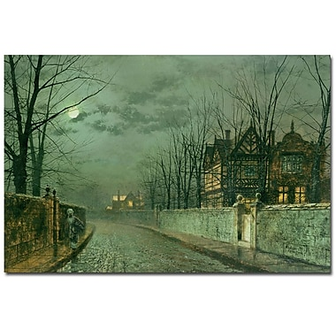 Trademark Fine Art John Atkinson Grimshaw 'Old English House, 1883' Canvas Art