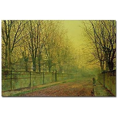 Trademark Fine Art John Grimshaw 'In the Golden Glow of Autumn' Canvas Art