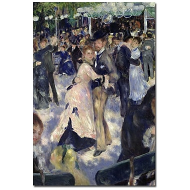 Trademark Fine Art Pierre-Auguste Renoir 'Le Moulin de la Galette' Canvas Art 16x24 Inches