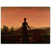 Trademark Fine Art Caspar David Friedrich 'Woman at Dawn' Canvas Art
