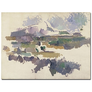 Trademark Fine Art Paul Cezanne 'Montagne Sainte Victorie 1904' Canvas Art 24x32 Inches