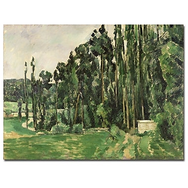 Trademark Fine Art Paul Cezanne 'The Poplars 1879' Canvas Art