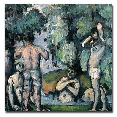 Trademark Fine Art Paul Cezanne, 'The Five Bathers' Canvas Art 24x24 Inches