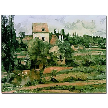 Trademark Fine Art Paul Cezanne 'Moulin de lad Couleuvre Pontoise' Canvas Art 35x47 Inches