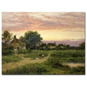 Trademark Fine Art Benhamin Leader 'Worcestershire Cottages, 1912' Canvas Art