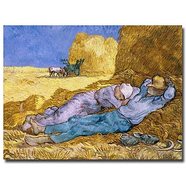 Trademark Fine Art Vincent van Gogh 'Siesta After Millet 1890' Canvas Art