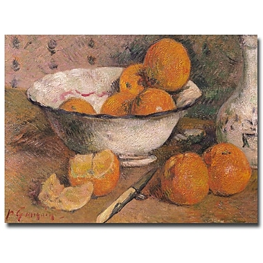 Trademark Fine Art Paul Gauguin 'Still Life with Oranges 1881' Canvas Art 35x47 Inches