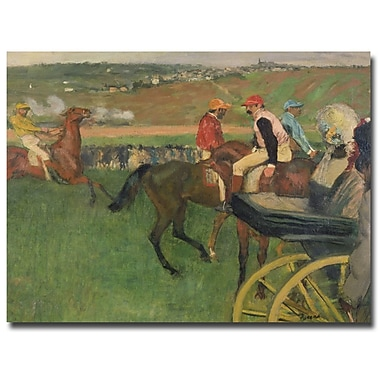Trademark Fine Art Edgar Degas 'The Race Course' Canvas Art