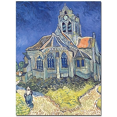 Trademark Fine Art Vincent van Gogh 'Church at Auvers-sur-Oise 1890' Art