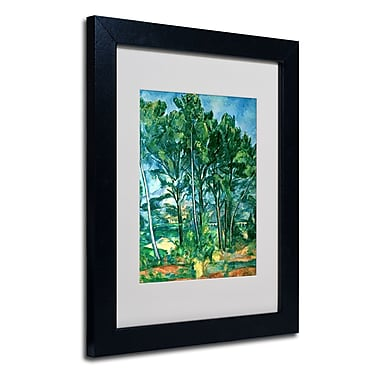 Trademark Fine Art Paul Cezanne 'The Aqueduct' Matted Art Black Frame 11x14 Inches