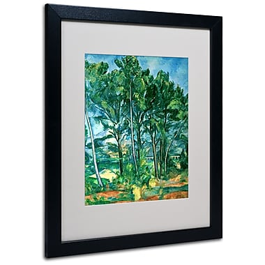 Trademark Fine Art Paul Cezanne 'The Aqueduct' Matted Art Black Frame 16x20 Inches