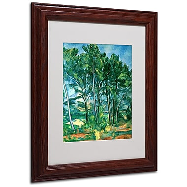Paul Cezanne 'The Aqueduct' Matted Framed Art - 11x14 Inches - Wood Frame