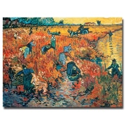 Trademark Fine Art Vincent van Gogh 'Red Vineyards at Arles, 1888' Canvas Art 35x47 Inches