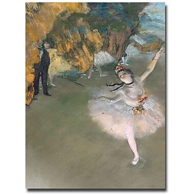 Trademark Fine Art Edgar Degas 'The Star, 1876' Canvas Art